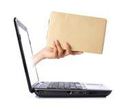 Online levering royalty-vrije stock afbeelding