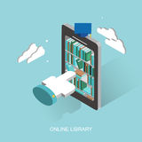 Online library royalty free illustration