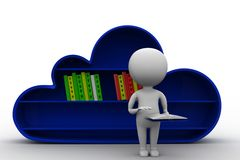 Online library concept Stock Photos