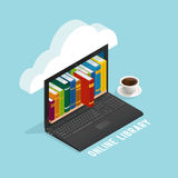 Online Library Isometric Design royalty free illustration
