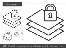 Online library line icon. Royalty Free Stock Photo