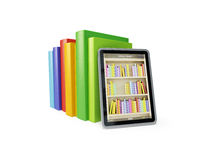 Online library on the tablet Stock Photo