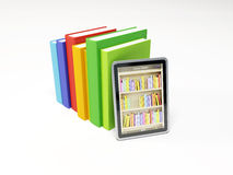 Online library on the tablet Stock Image