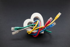 Online liefde en sociaal voorzien van een netwerkconcept Royalty-vrije Stock Afbeelding