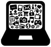 Online life stock illustration