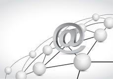 Online link connection network illustration Stock Image