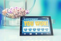 Online loterij Royalty-vrije Stock Afbeelding