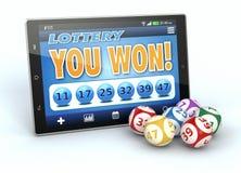Online-lotteri stock illustrationer