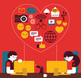 Online Love Stock Photography