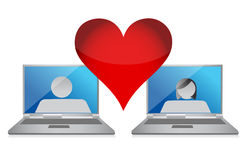 Online love concept Royalty Free Stock Image
