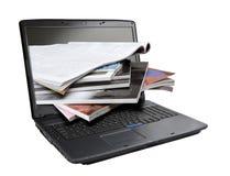 Online magazines Stock Image
