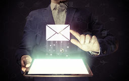 Online mail, correspondence, feedback, reporting. Stock Image