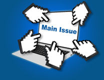 Online Main Issue Concept Royalty Free Stock Images