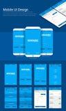 Online-mall för betalningmobil App UI, UX och GUI- Fotografering för Bildbyråer