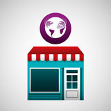 Online market buying global graphic Royalty Free Stock Photo