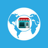 Online market buying global graphic Royalty Free Stock Images