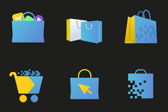 Online market icon, Digital store sign Royalty Free Stock Image