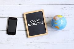 Online marketing zdjęcie stock