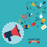Online marketing royalty-vrije illustratie