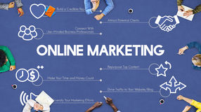 Online Marketing Advertisement Promotion Advertising Concept stock photography