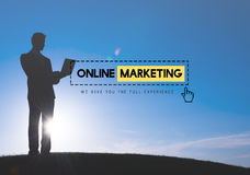 Online Marketing Advertisement Strategy Target Promotion Concept.  Stock Image