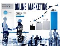 Online Marketing Advertisement Target Promotion Concept stock images