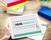 Online Marketing Advertising Branding Commerce Concept.  royalty free stock photos
