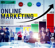 Online Marketing Advertising Commercial Brand Concept Royalty Free Stock Images