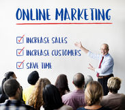 Online Marketing Aims Plan Strategy Concept Stock Images