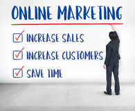 Online Marketing Aims Plan Strategy Concept. Online Marketing Aims Plan Strategy Royalty Free Stock Photo