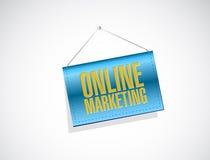 Online marketing banner sign illustration Stock Photos