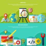 Online Marketing Banners Set Stock Photo