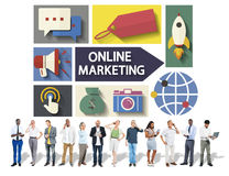 Online Marketing Branding Global Communication Analysing Concept Royalty Free Stock Photo