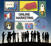 Online Marketing Branding Global Communication Analyzing Concept Royalty Free Stock Images