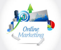 Online marketing business graphs sign Royalty Free Stock Photo
