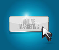 Online marketing button sign illustration Stock Photography