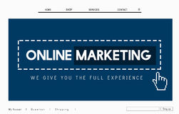Online Marketing Commerce Global Business Strategy Concept Royalty Free Stock Image
