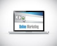 Online marketing computer sign concept illustration stock illustration