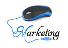 Online marketing. Concept. mouse and text marketing Royalty Free Stock Images