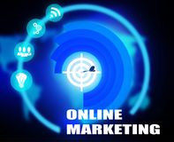 Online Marketing concept plan graphic. Background Stock Photography