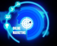Online Marketing concept plan graphic. Background Stock Images