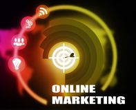 Online Marketing concept plan graphic. Background Stock Photo
