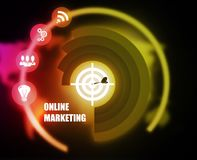 Online Marketing concept plan graphic. Background Royalty Free Stock Images