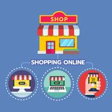 Online marketing concept. Strategy and report of online shopping or online campaign Royalty Free Stock Photo