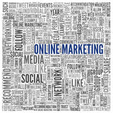 Online marketing concept in word tag cloud Royalty Free Stock Photos
