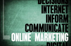 Online Marketing. Core Principles as a Concept Royalty Free Stock Images