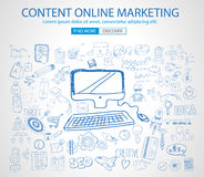 Online Marketing with Doodle design style Royalty Free Stock Photos