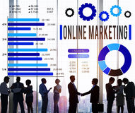 Online Marketing E-commerce Business Concept Royalty Free Stock Images