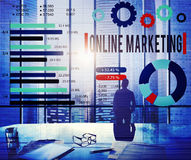 Online Marketing E-commerce Business Concept Stock Image