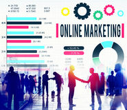 Online Marketing E-commerce Business Concept royalty free stock photography